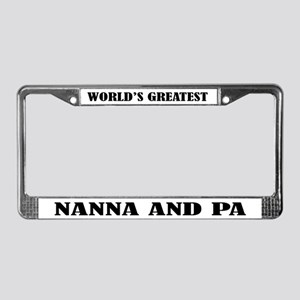 Worlds Greatest Nanna and Pa License Frame