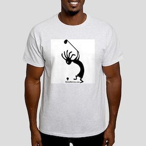 Kokopelli Golfer Ash Grey T-Shirt