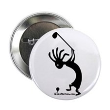 Kokopelli Golfer Button