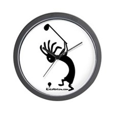 Kokopelli Golfer Wall Clock