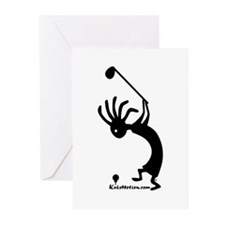 Kokopelli Golfer Greeting Cards (Pk of 10)