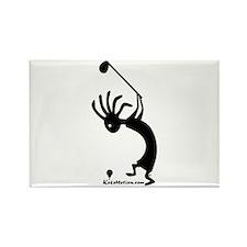 Kokopelli Golfer Rectangle Magnet (100 pack)