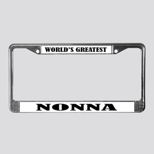 Nonna License Plate Frame Gift