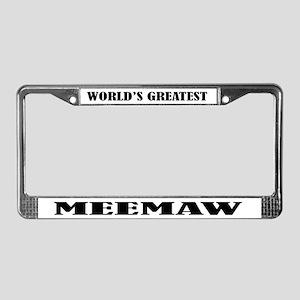 MeeMaw License Plate Frame
