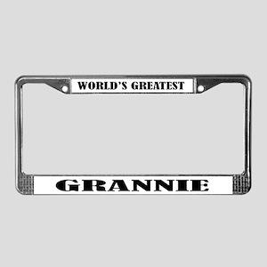 Grannie License Plate Frame Gift
