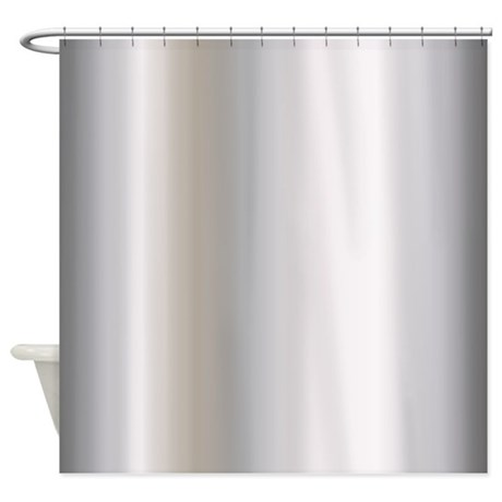 Metallic Silver Shower Curtain