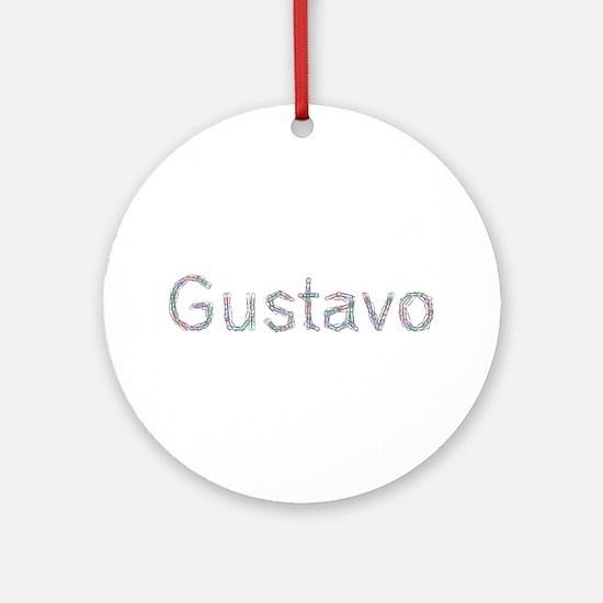 Gustavo Paper Clips Round Ornament