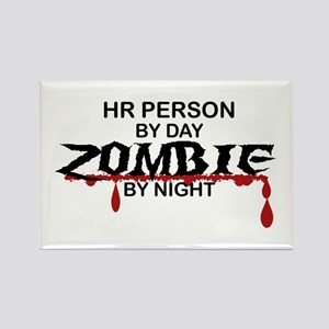 HR Person Zombie Rectangle Magnet