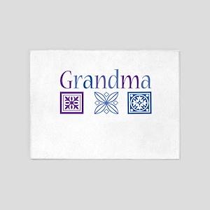 Grandma Quilt Blocks 5'x7'Area Rug