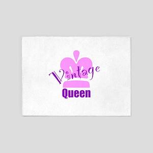 Vintage Queen 5'x7'Area Rug