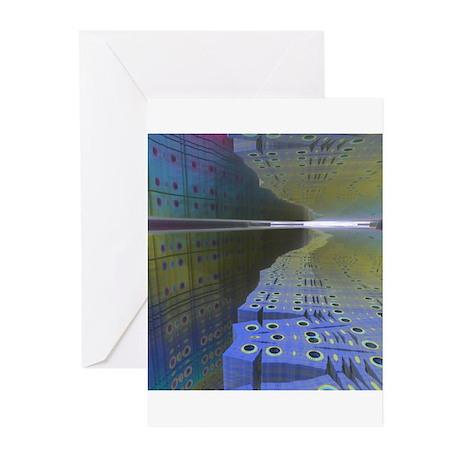 Fractal Cavern Greeting Cards (Pk of 10)