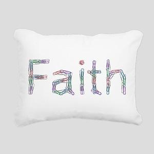 Faith Paper Clips Rectangular Canvas Pillow