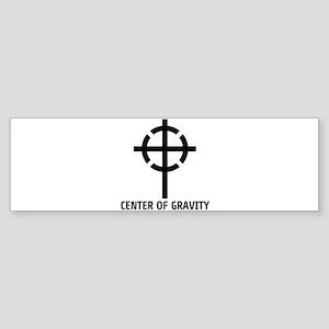 CENTER OF GRAVITY Sticker (Bumper)
