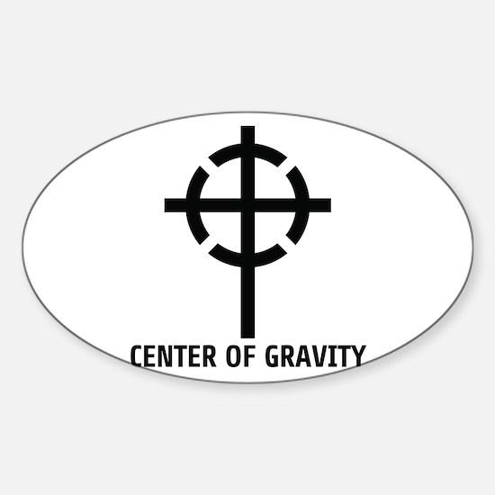 CENTER OF GRAVITY Sticker (Oval)