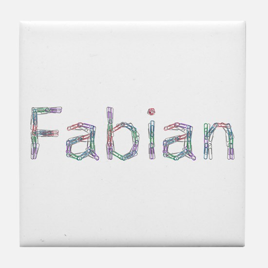 Fabian Paper Clips Tile Coaster