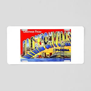 Jacksonville Florida Greetings Aluminum License Pl