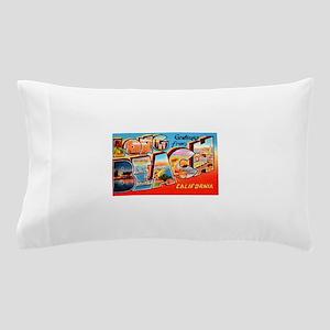 Long Beach California Greetings Pillow Case