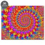 Psychedelic Pink Fractal Art Puzzle