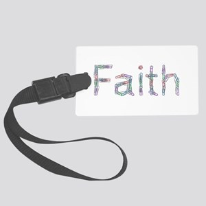 Faith Paper Clips Large Luggage Tag