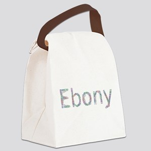 Ebony Paper Clips Canvas Lunch Bag