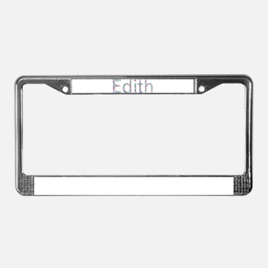 Edith Paper Clips License Plate Frame