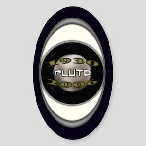 Pluto Commemorative Oval Sticker