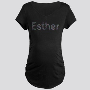 Esther Paper Clips Maternity Dark T-Shirt