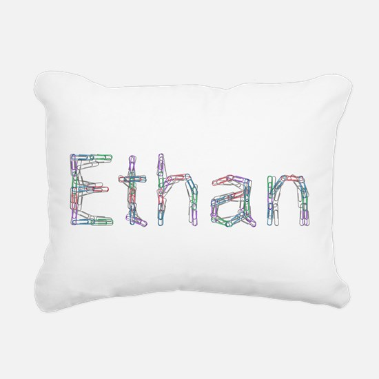 Ethan Paper Clips Rectangular Canvas Pillow