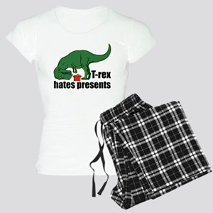 T-rex hates presents Women's Light Pajamas