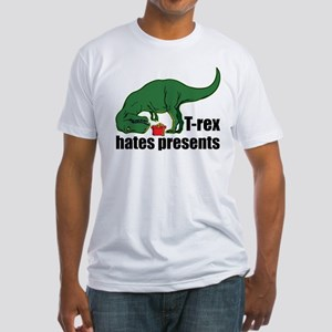 T-rex hates presents Fitted T-Shirt