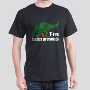 T-rex hates presents Dark T-Shirt