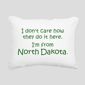 From North Dakota Rectangular Canvas Pillow