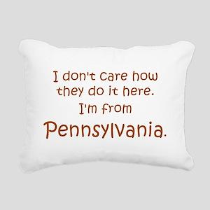 From Pennsylvania Rectangular Canvas Pillow