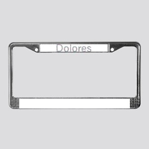 Dolores Paper Clips License Plate Frame