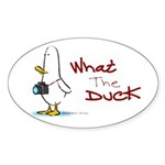 What the Duck Oval Sticker