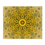 Yellow Sunflower Fractal Pattern Throw Blanket