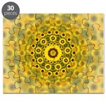 Yellow Sunflower Fractal Pattern Puzzle