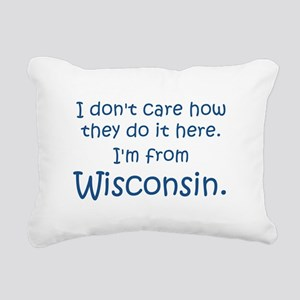 From Wisconsin Rectangular Canvas Pillow