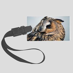 Eagle Owl Large Luggage Tag