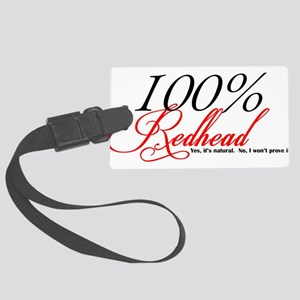 Natural Redhead Large Luggage Tag