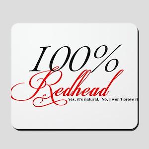 Natural Redhead Mousepad