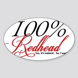 Natural Redhead Sticker (Oval)