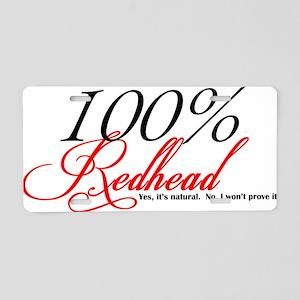 Natural Redhead Aluminum License Plate