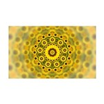Yellow Sunflower Fractal Pattern 35x21 Wall Decal