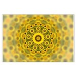 Yellow Sunflower Fractal Pattern Large Poster