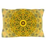 Yellow Sunflower Fractal Pattern Pillow Case