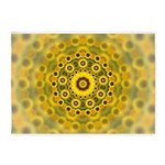 Yellow Sunflower Fractal Pattern 5'x7'Area Rug