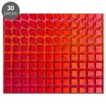 Red Retro Squares Pattern Puzzle