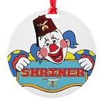 Proud Shrine Clown Round Ornament