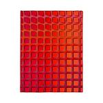 Red Retro Squares Pattern Twin Duvet